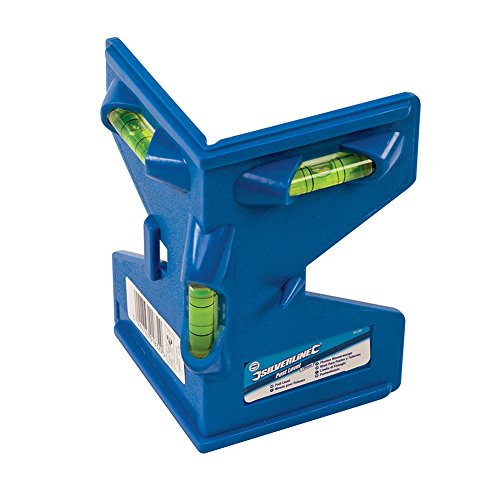 Pfosten-Wasserwaage mit 3 Libellen und 4 Magnetstreifen - inkl. Spannband