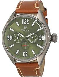 Titan Purple Upgrades Analog Green Dial Men's Watch - 9478QL02J
