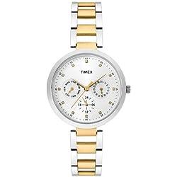 Timex E-Class Analog Silver Dial Women's Watch - TW000X207