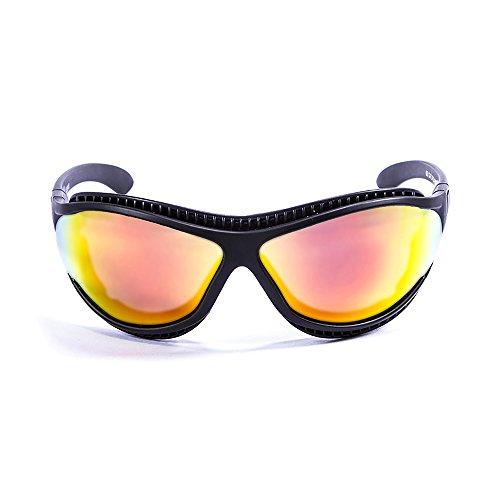 OCEAN SUNGLASSES - tierra de fuego - lunettes de soleil polarisÃBlackrolles  - Monture : Noir Mat - Verres : Revo Jaune (12201.0)