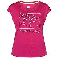 Canterbury Vapodri CCC Graphic Camiseta, Mujer, Fuchsia Red, XXL