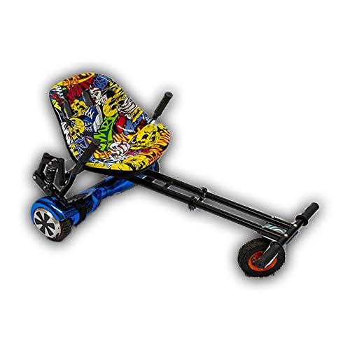 GadgetFinder Graffiti Hip Hop Gelber Racer Sitz mit schwarzer Aufhängung MonsterHoverkart Hover Kart Go Kart