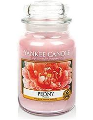 Yankee Candle 1507692E Bougie Parfumée Grande Jarre Pivoine Combinaison Rose 11 x 11 x 20 cm 623 g