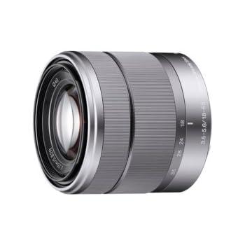 Sony SEL-1855 Standard Zoom-Objektiv (18-55 mm, F3.5-5.6, OSS, APS-C, geeignet für A6000, A5100, A5000 und Nex Serien, E-Mount) silber