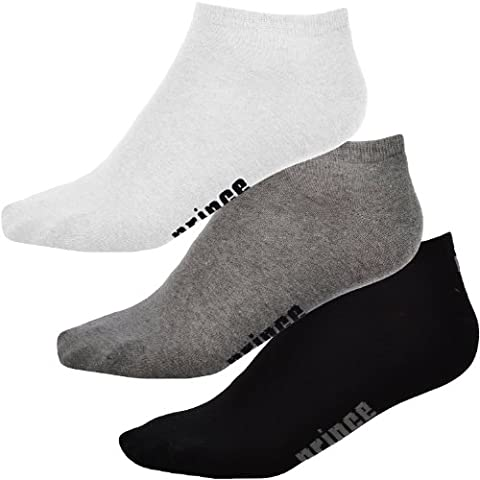 3 Pair Pack of Prince Pro Tour Mens Ankle Trainer Sport Socks - 10-14UK