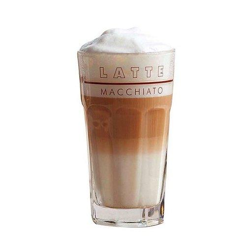 Latte Macchiato Glas 34cl mit Dekor