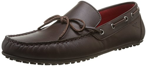 Hackett London Moccasins Bow Leather - Mocassino per uomo, Marrone, 43