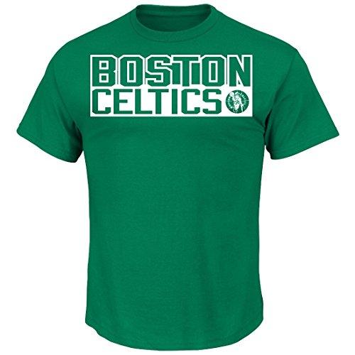"Larry Bird Boston Celtics Majestic NBA ""Custom"" Throwback Player T-Shirt Camicia"