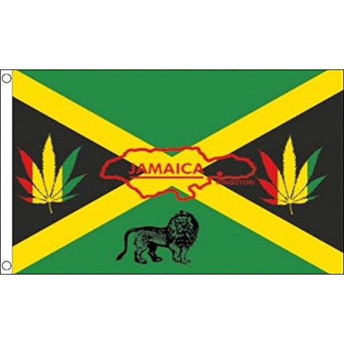 AZ FLAG Bandiera Giamaica Reggae 150x90cm - Bandiera GIAMAICANA Rasta 90 x 150 cm