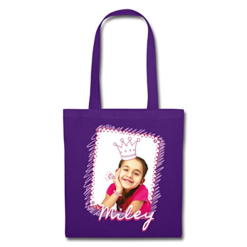 Spreadshirt Mileys World Princess Miley Con Borsa In Tessuto Viola Corona