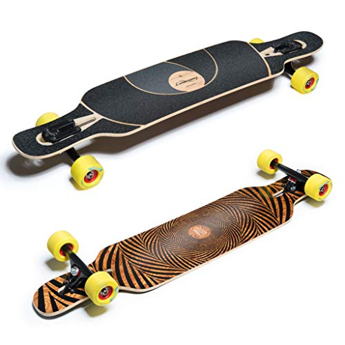 Loaded Tan Tien Flex 3 Complete Longboard With Paris Trucks, Orangatang Stimulus Wheels by Loaded - Longboard Paris Trucks