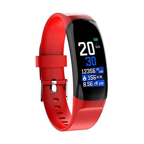 OSYARD Smart-Uhr,Fitness-Tracker,Sportuhr,Fitness-Armband Armbanduhr mit Herzfrequenz-Monitor,Kalorienzähler,IP67 Wasserdicht,Schrittzähler,Smartwatch für Android iOS,Schwarz/Weiß,Silicon Strap
