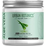 UrbanBotanics 99% Pure Aloe Vera Skin/Hair Gel With Vitamin E & Natural Emollients (Paraben Free), 200g
