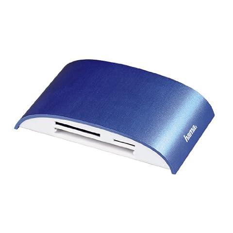 Hama Pro USB 3.0 Bleu lecteur de carte mémoire - lecteurs de carte mémoire (Clé USB (MS), MicroSD (TransFlash), MicroSDHC, MicroSDXC, MMC, MS Duo, MS PRO, MS PRO Duo, SD, SDHC,, USB 3.0, Bleu)