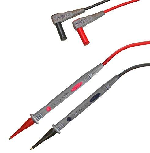 Peak Tech 1par flexible Multímetro de cables de medición 120cm, seguridad-Juego de cables de prueba, 1000V AC/DC, 10A, Cat III/IV, 1pieza, TKS de 2