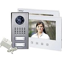 GEV 2- Familienhaus Video-Türsprechanlage CVS, 1 Stück, silber weiß, 88351