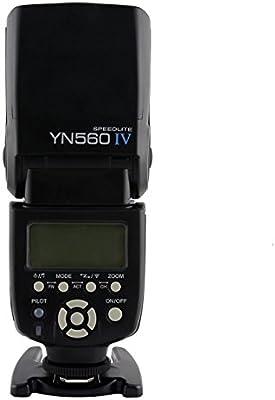 Yongnuo YN560 IV 2.4GHz Flash Speedlite YN560 IV con Transceptor de Apoyo YN560-TX, RF- 603 (I / II) , RF- 602 para Canon Nikon Pentax Panasonic con TARION Difusor