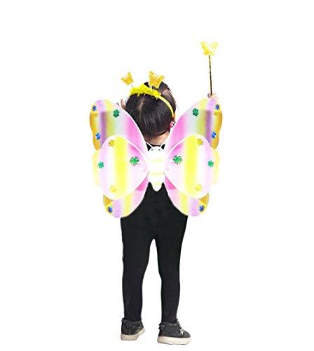 Ikumaal Ja08 98-104 Flügel Kostüm Kind Kinder Kostüme für Karneval Fasching