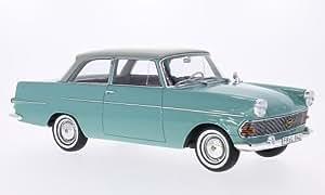 Opel record P2 , vert clair/gris clair, 1961, voiture miniature, Miniature déjà montée, BoS-Models 1:18