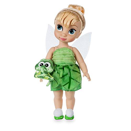 Disney Muñeca de Campanilla 39cm con un peluche acolchado de raso del cocodrilo -Colección Animators