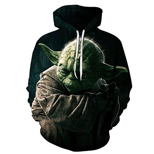 Wars Herren Hoodie,Rollkragenpullover,Cosplay Sweatshirt Für Herren Und Damen Hoodies Top Hoody,L,Grün ()