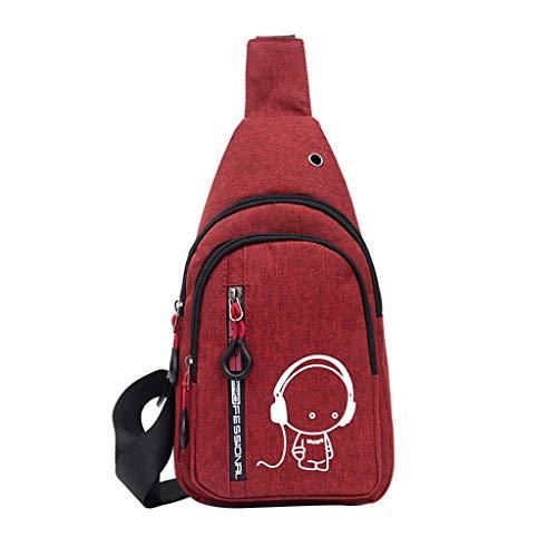 Dasongff Mode Hüfttasche Kleine Umhängetasche Damen Crossbody Tasche Brusttasche Sporttasche Schultertaschen Reise Daypack - Hochwertige Hipster Hip Bag für Alltag