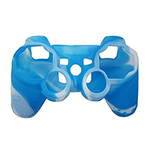 OSTENT Camouflage Silikon Hülle für Sony PS2 / 3 Wireless / Wired Controller – Farbe Blau