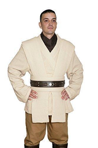 Star Wars Obi-Wan Kenobi Kostüm - Tunika Satz - Replik Star Wars Kostüm - Beige, Herren - M