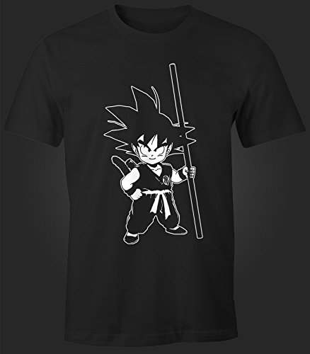 Herren T-Shirt - Son Goku Kid Super Saiyajin - Comfort Fit MoonWorks® Schwarz