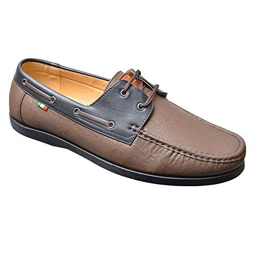 D555  Burch, Chaussures de ville à lacets pour homme Marron marron 45 EU -EU 46 Marron