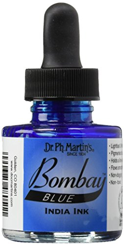 Dr Ph. Martin's Bombay India Ink, 1.0 oz, Blue (5BY) -