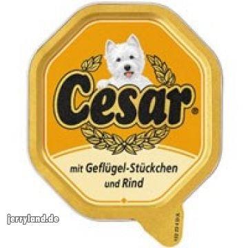 Artikelbild: Cesar mit Geflügel-Stückchen und Rind 150g