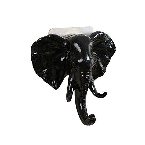 TwoCC❤ Ganchos,Cabeza de Elefante Moderna Percha de Gancho de Pared Simple Perchero Gancho Toalla Toalla Gancho Adhesivos Percha Resistente Para Baño Lavabos Armarios de Dormitorio Oficina
