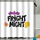 Randell Bathroom Shower Curtain Daddy Little Pumpkin Halloween Party Waterproof Fabric Shower Curtain 60(W) X 72(L) Inches For Men Women Kids