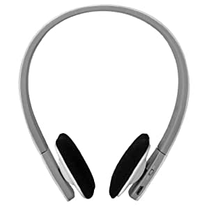 AEC Cuffie Wireless Bluetooth Sportive | Stereo Headphone Headset Auricolare Microfono per iPhone iPad Samsung HTC Tablet PC (Bianco)