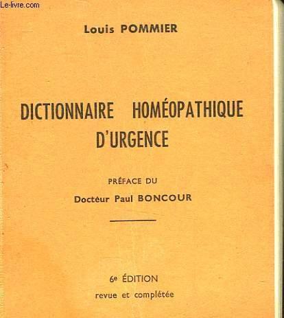 Dictionnaire homeopathique d'urgence