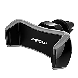 Air Vent Phone Holder, Mpow Universal Car Phone Mount for Air Vent One Step Mounting Car Mount 360° Rotatable Car Cradle for Cellphone between 2.17In and 3.35In like iPhone 8 7 Plus, GPS Device, Sony