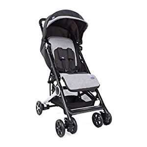 Chicco Mini.Mo Super Compact from Birth Stroller, Black Night GSDZSY ❀ Material: High carbon steel + ABS + rubber wheel, suitable for children from 6 months to 6 years old, maximum load 30 kg ❀ Features: The push rod can adjust the height and control direction, the seat can rotate 360; the baby can lie flat, adjustable umbrella, suitable for different weather conditions ❀ Performance: high carbon steel frame, strong and strong bearing capacity; non-inflatable rubber wheel, suitable for all kinds of road conditions, good shock absorption, seat with breathable fabric, baby ride more comfortable 10