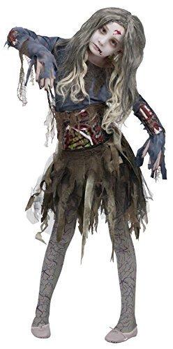 Kostüm Zombie World Fun - Unbekannt Zombie Mädchen Halloween-Kostüm, Large (12-14)