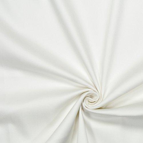 Fabulous Fabrics Baumwollsatin Stretch wollweiss - Meterware ab 0,5m - zum Nähen von Kissen, Bettwäsche und Businesskleidung