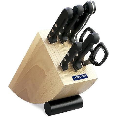 Arcos Universal - Taco de 5 cuchillos y tijera (6pzs)