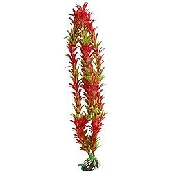 """SODIAL(R) Rot Gruen Aquarium Kuenstlich Wasserpflanze Ornament 15 """""""