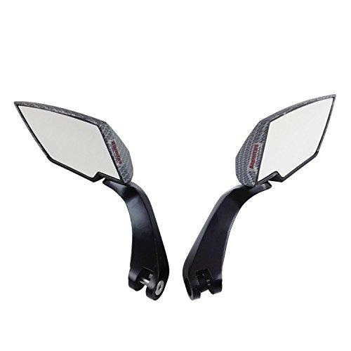 Atpmtas® 1 Set universale 8mm 10mm in fibra di carbonio per moto diamante della lama di stile laterale retrovisore specchi per Harley Davidson Cruiser Chopper Suzuki Honda Kawasaki Yamaha BMW Scooter