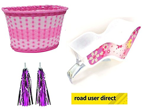 Children Bike Accessory Pack - Dolly Seat / Pink Basket & Handlebar Streamers