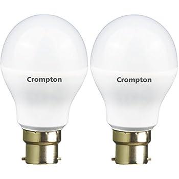 Crompton Combo: 9-Watt and 12-Watt B22 LED Lamp (Cool Day Light, Pack of 2)