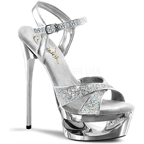 Pleaser, Sandali (6 Sexy Silver Shoe)