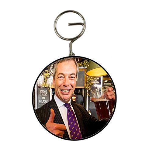Nigel Farage Thumbs Up avec une Pinte de bière IPA Porte-clés décapsuleur Porte-clés 58 mm Button Grande fantaisie Cadeau anglais général Élection 2017 Kaboom cadeaux