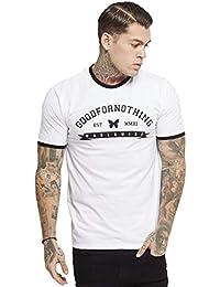 Good For Nothing Camiseta Blanca con Letras y Logotipo Negro