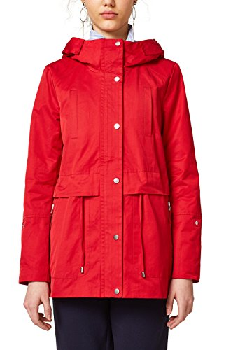 edc by ESPRIT Damen Jacke 028CC1G006, Rot (Red 630), X-Small