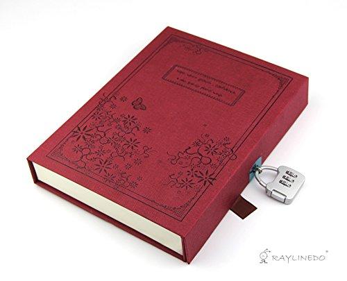 Vintage Red Tagebuch Notizbuch Journal Notizbuch Hardcover mit Codeschloss Gift Box Rot